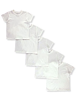 Boys' 5-Pack Tagless T-Shirts by Hanes in Multi