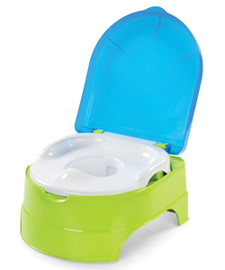 3-in-1 My Fun Potty Trainer & Step Stool by Summer Infant in Blue/lime