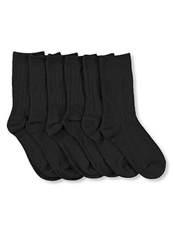 """Classic"" 3-Pack Dress Socks in Black, Boys Fashion"