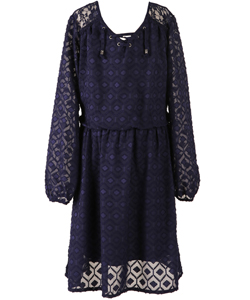 "Speechless Big Girls' ""Clip Spot Blouson"" Dress (Sizes 7 – 16) - CookiesKids.com"