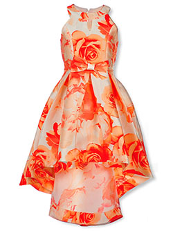 Girls' Floral Halter Dress by Speechless in Ivory/coral, Girls Fashion