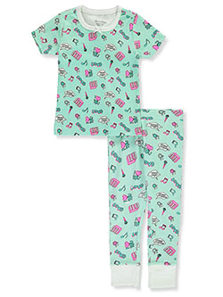 Girls' Music Love 2-Piece Pajamas by Hartstrings in mint and sachet pink