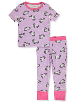 Girls' 2-Piece Unicorn Pajamas by Hartstrings in lilac and white