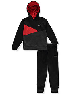 Boys' 2-Piece Sweatsuit Pants Outfit by Hind in Black