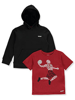 Boys' Dunk 2-Piece Hoodie & T-Shirt Set by Hind in Black