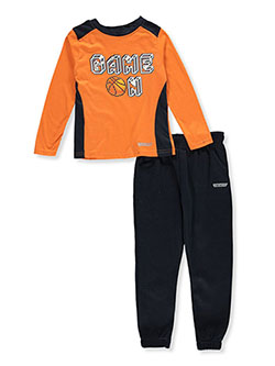 Boys' Game On 2-Piece Joggers Set Outfit by Hind in Orange/multi