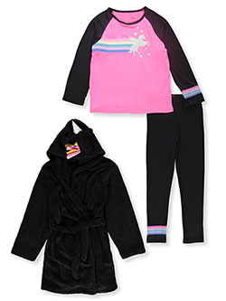 Freestyle 3-Piece Unicorn Pajama Set by Stargate Apparel in Multi, Girls Fashion
