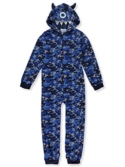 Monster Hood Plush 1-Piece Pajama Suit by Freestyle in Multi