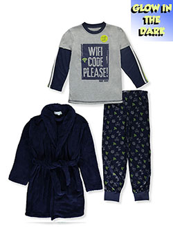 Boys' Wifi Code 3-Piece Pajama Set by Freestyle in Multi