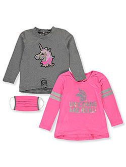 Girls' Unicorn 2-Pack Tops with Mask by Freestyle in Multi