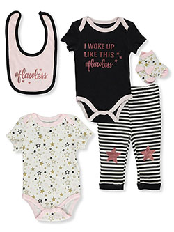 Baby Girls' #Flawless 5-Piece Layette Set by Quiltex in Multi, Infants