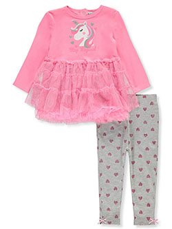 Unicorn 2-Piece Leggings Set Outfit by Quiltex in Multi, Infants