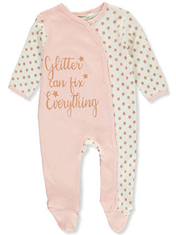 Baby Girls' Glitter Fix Footed Coverall by Quiltex in Multi - $12.00