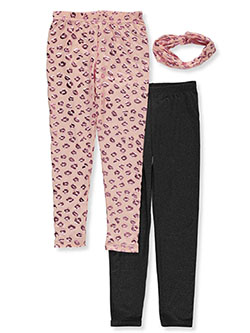 Girls' 2-Pack Leggings by Freestyle in Multi