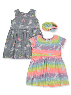 2-Pack Unicorn Dresses With Headband by Freestyle Revolution in Multi