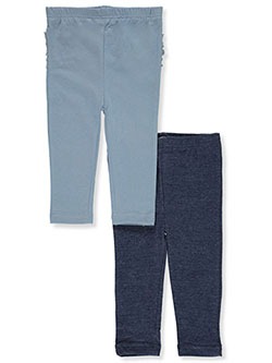 Baby Girls' 2-Pack Leggings by Quiltex in Light blue - $16.00