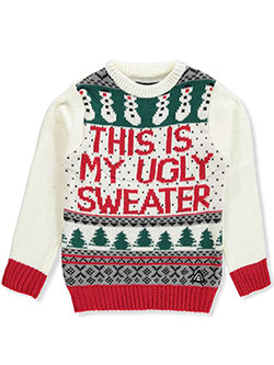 This Is My Ugly Sweater Knit Sweater by American Stitch in Multi, Sizes 8-20