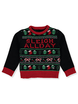 Girls' Sleigh All Day Sweater by American Stitch in Black, Sizes 4-6X