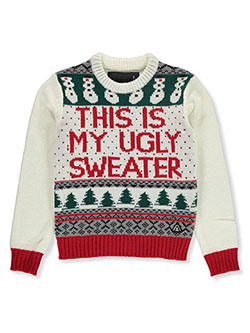 Boys' Ugly Christmas Sweater by American Stitch in Multi, Sizes 8-20