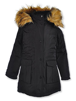 Zip Sleeve Pocket Insulated Parka by Steve Madden in Black