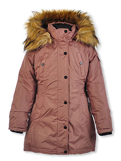 Snap Sleeve Pocket Insulated Parka by Steve Madden in Dusty rose