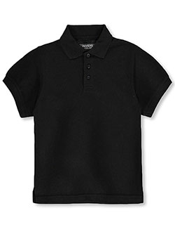 Unisex S/S Pique Polo by Universal in black, blue, yellow and more - $14.00
