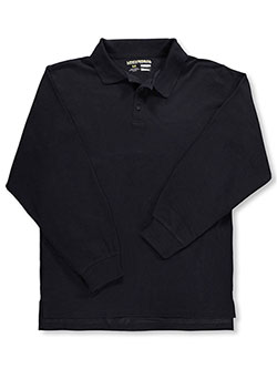 Men's L/S Pique Polo by Universal in black, blue, yellow and more