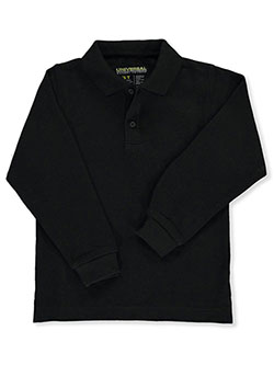 Universal Unisex L/S Pique Polo by Universal School Uniforms in black, blue, yellow and more