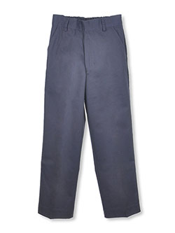 Big Boys' Flat Front Pants by Universal in Navy
