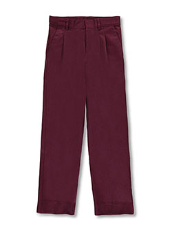 Big Boys' Pleated Front Pants by Universal in burgundy and khaki