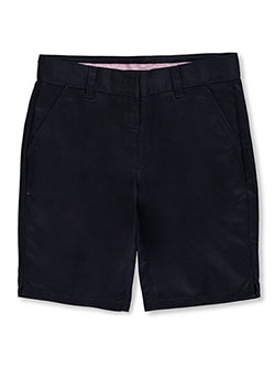 Big Girls' Flat Front Shorts by Universal in Navy - $16.00