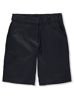 Girls' Flat Front Shorts by Universal in black, khaki and navy