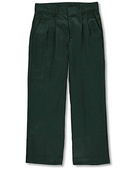 Boys' Pleated Front Pants by Universal in Green