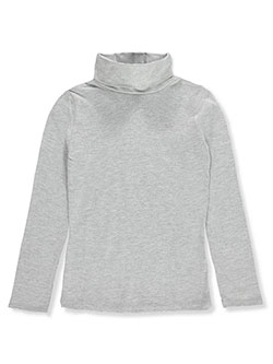Girls' Turtleneck by Qtee in Gray, Sizes 2T-4T