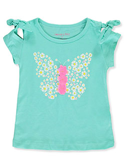 Girls' Glitter Butterfly Top by Colette Lilly in Seafoam - Fashion Tops