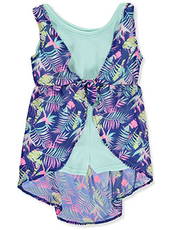 Girls' Tropical Vest and Romper Outfit by One Step Up in Navy