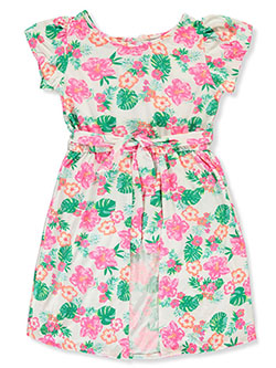 Girls' Floral Romper/Dress Combo by One Step Up in Multi