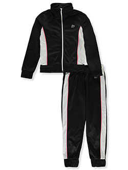 Girls' Piped Panel 2-Piece Tracksuit Outfit by RBX in Black