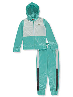 Girls' Panel Hoodie 2-Piece Tracksuit Outfit by RBX in Mint