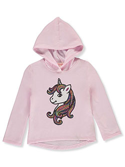 Girls' Sequin Unicorn Hoodie by Colette Lilly in Pink