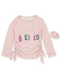 Sequin Blessed Top with Hair Tie by Colette Lilly in Rose