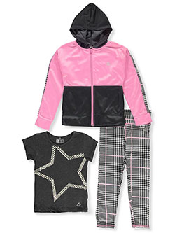 Houndstooth Star 3-Piece Leggings Set Outfit by RBX in Charcoal gray