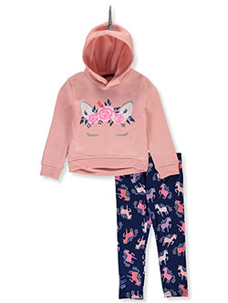 Flower 2-Piece Leggings Set Outfit by Colette Lilly in Blush, Girls Fashion