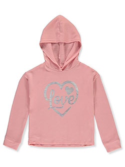 Girls' Heart Hoodie by Love Republic in Rose, Girls Fashion