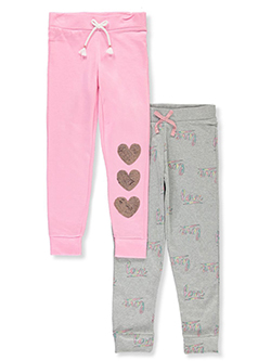 Girls' 2-Pack Joggers by One Step Up in Assorted, Girls Fashion