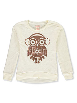Girls' Owl Plush Top by Colette Lilly in Vanilla, Girls Fashion