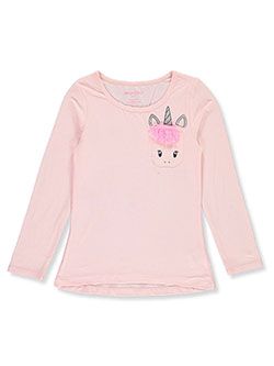 Girls' Unicorn Pocket L/S Top by Colette Lilly in Pink