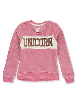 Girls' Unicorn Plush Sweatshirt by Colette Lilly in Pink/multi