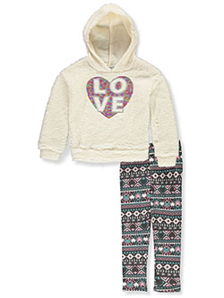 Love Plush 2-Piece Leggings Set Outfit by One Step Up in Vanilla