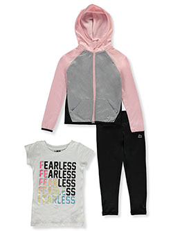 Girls' Fearless 3-Piece Leggings Set Outfit by RBX in Rose, Girls Fashion